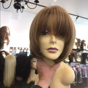 Fulllace Blonde mix wig color 2216 blonde bob